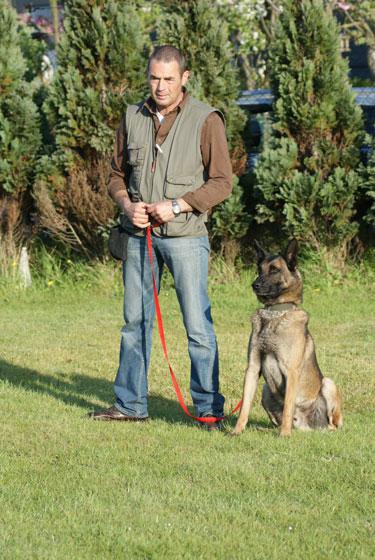 Koen, met één van zijn eigen honden
