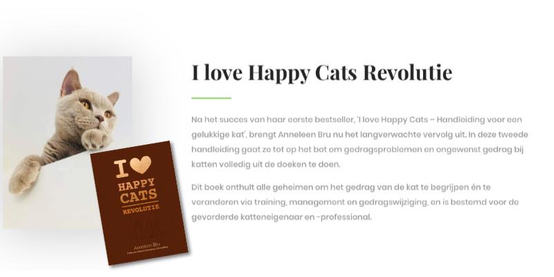 Boek I love Happy Cats Revolutie – Anneleen Bru